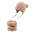 Opromo Baby Beanie Hat for Winter with Earfalp Cute Bear Kids Toddler Girls Boys Warm Knit Cap
