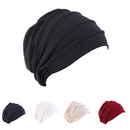 Opromo Stretch Beanie Slouchy Snood-Caps for Women with Chemo Cancer Hair Loss