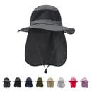 Opromo Unisex Summer Outdoor Mesh Sun Hat Wide Brim Fishing Hat Adjustable Neck Flap Cap
