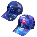 Opromo Galaxy Printed Baseball Cap Adjustable Hip Hop Trucker Cap Snapback Hat for Men Women Teens
