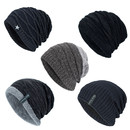 Opromo Unisex 2 in 1 Double Layer Cotton Slouchy Beanie Skull Cap Chemo Scarf Hat