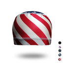 Opromo Flag Printed Mesh Crown Stretch Wicking Helmet Liner Cooling Cycling Skull Cap