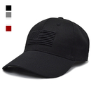 Opromo American Flag Embroidered Plain 6 Panel Cotton Baseball Cap Sports Hat