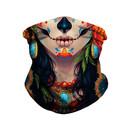 Opromo Halloween Gaiter Face Cover for Adult Kids,Skull Neck Gaiter Bandana