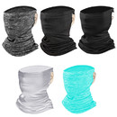 Opromo Outdoor Breathable Cooling Face Cover Neck Gaiter with Earloop,Balaclava Tube Hat Multifunctional Headgear