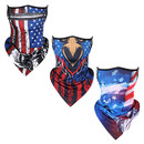 Opromo Unique Stylish Mesh Cooling Face Cover Neck Gaiter with Ear Loops,Breathable Outdoor Balaclava Bandana