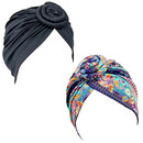 TOPTIE Knot Flower Turban Hat Pre-Tied Headwrap for Women,Bonnet Chemo Cap Beanie