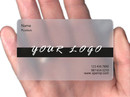 200 PCS Frosted Custom Business Card, PVC Personalize Business Cards, Full Color Printing
