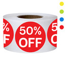 Muka 500 PCS 0.75 Inch Percent Off Stickers