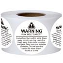 Muka 500 PCS 1.5 Inch Candle Warning Labels  Wax Melting Safety Labels
