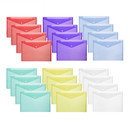 Aspire Transparent Poly Envelope Folder with Snap Button Closure, Waterproof Project Folder, A4/Letter Size