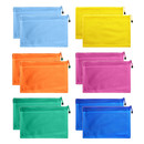 Officeship 6 PCS 5 Sizes Mesh Laminated Zipper Pouches Document Folders for Office Student Supplies
