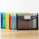 Officeship A4 Plastic Document Folders with Pocket, Expandable Envelope Wallet Envelope File Folder with Button Closure