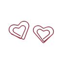 (Price/100 Clips) Officeship Red Heart Shaped Paper Clips, 1 1/8
