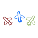 (Price/100 Clips) Officeship Airplane Paper Clips, 1 1/4