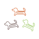 (Price/100 Paper Clips) Doggie Shaped Paper Clips, 1 3/4