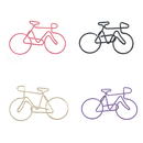 (Price/100 Paper Clips) Bicycle Shaped Paper Clips, 2 1/2