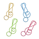 (Price/100 Paper Clips) Lyric Shaped Music Notes, 1 1/2