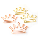 (Price/50 Paper Clips) Rose Gold Crown Paper Clips, 1 1/2