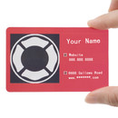 Custom 200 PCS Frosted Plastic Personalize Business Cards, Full Color Printed, 0.38mm Thickness