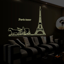 Aspire Fluorescent Luminous Wall Decals for Home/Restaurant/Window Decoration, 23 1/2