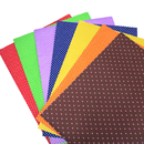 Officeship 10 PCS Self Adhesive Backed Canvas Sheets for DIY Decorative Scrapbook Cloth Sticker, 9