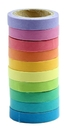 Officeship 20 Rolls Decorative DIY Tape Rainbow Candy Color Sticky Adhesive Tape Scrapbooking & Phone DIY Decoration