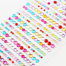 3 Sheet Officeship Acrylic Rhinestone Self Adhesive Sheets for Gift Wrapping Decoration