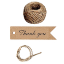 100 PCS Aspire Kraft Gift Tags Bonbonniere Favor Gift Tags with Free 100 Feet Natural Jute Twine