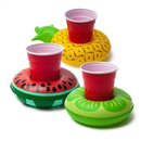 6 PCS Inflatable Fruit Shape Drink Holders, Inflatable Pool Floats, Inflatable Pool Party Drink Floats
