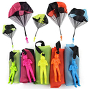 GOGO 5 PCS Kids Hand Throwing Parachute Toy Soldier, 17