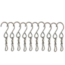 GOGO 10 Pack Turn Twirl Swirl, Swivels Dual Clip for Hanging Wind Spinners Wind Chimes SS Swivel Hook Display Twist