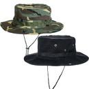 TOPTIE Wide Brim Bucket Boonie Hat Summer Outdoor Fishing Sun Cap with Chin Strap