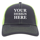 TOPTIE Personalized Custom 2-Tone Contrast Stitch Trucker Cap Structured Mesh Back Cotton Twill  Trucker Hat