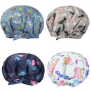 TOPTIE Womens Luxury Shower Cap,Waterproof Reusable Shower Hat with Adjustable Bow Knot