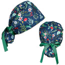 TOPTIE Tie Back Bouffant Hat with Sweatband & Adjustable Ribbon Tie Ponytail Bouffant Hat with Button