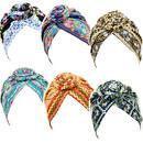 TOPTIE 4Pack/6Pack Flower Knot Turban Headwrap Pre-Tied Bonnet Beanie Cap Head Wrap,Pre-Knotted Headwrap Turbans