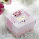 Mother's Day Purple Flower Custom White Gift Box, 2.56