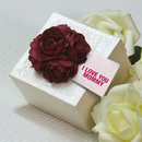 Mother's Day Elegant Small Flower Boxes with Personalized Tags, 2.36