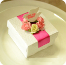 Mother's Day Custom white Gift Box with Bird-shape tag, 2.45