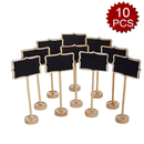 Aspire 10 Pack Mini Chalkboards Black Board with Stand for Message Board Signs
