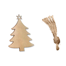 (Pack of 10PCS) Aspire Christmas Tree Ornaments, Unfinished Wooden Angel Deer Bird Tree Slices Series for DIY Craft, Christmas Decorations