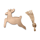 (Pack of 10PCS) Aspire Unfinished Wooden Art Craft Hanging Ornaments for Christmas Holiday Party Decoration