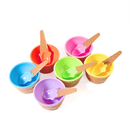 (Pack of 3)Aspire Ice Cream Bowls Snack Bowls Dessert Bowls with Spoon for Kids Children