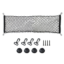 Aspire Cargo Net Hammock Trunk Organizer Vehicle Storage with 4 Adjustable Hook Black