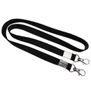 Pack of 5/10/20/50 Officeship Flat Braid Woven Lanyard with Metal Swivel Hook
