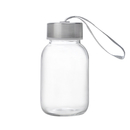Aspire 5oz Premium Water Bottle, Glass Bottle, Stainless Steel Caps with Carrying Loop, Wide Mouth Leakproof Drink Bottles, for Kids