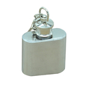 Blank Stainless Steel Keychain Flask, 1 oz, 2 3/10