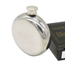 Blank Round Stainless Steel Hip Flask, 5 Oz., 3 4/5