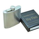 Blank Stainless Steel Flask, Leak Proof, 6 oz, 3 4/5